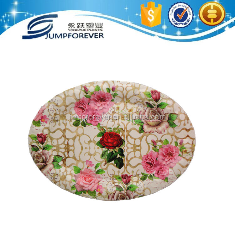 Best selling and hard Oval shallow brand name plates decoration plates