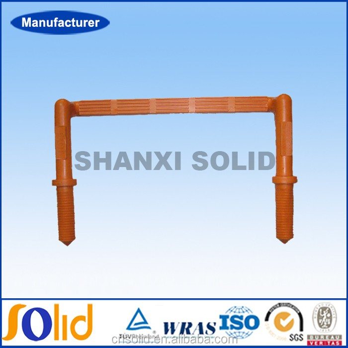 Galvanized Steel core manhole step with new PP orange color