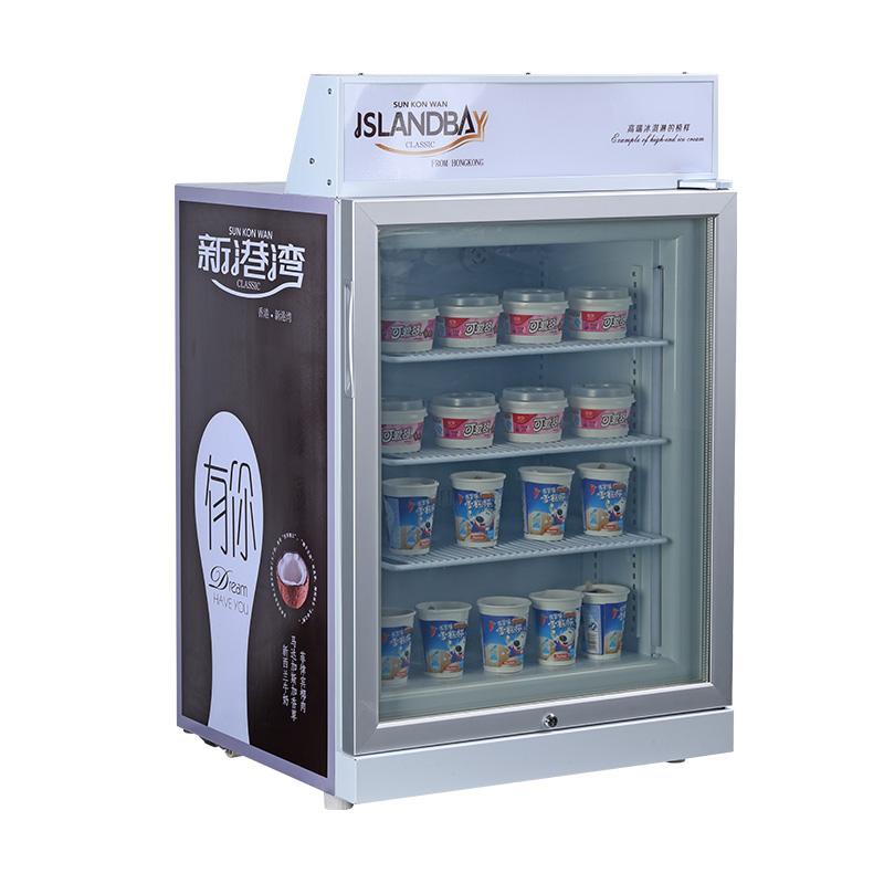 98L mini freezer for ice cream, display refrigerator, high quality,factory