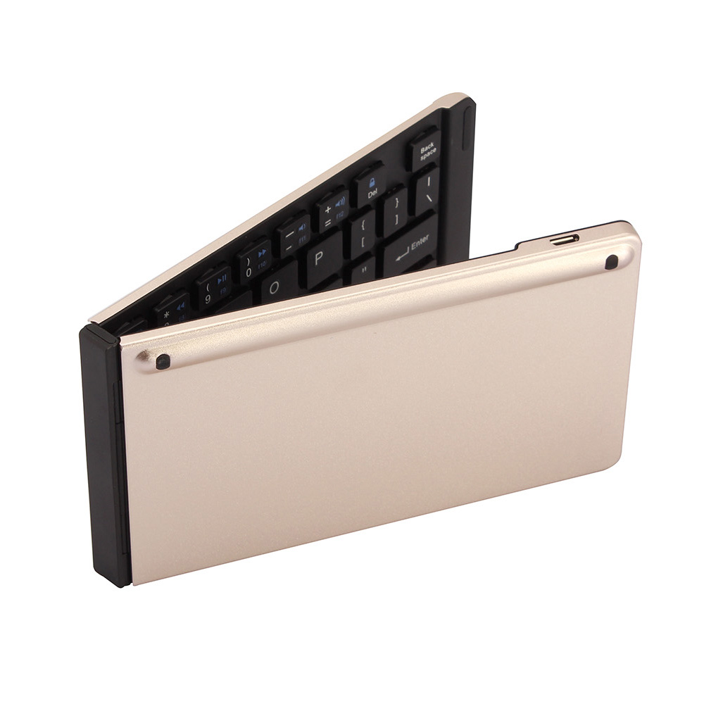 Ultra slim Mini Foldable Wireless Bluetooth Keyboard for Mobile Phone Tablet