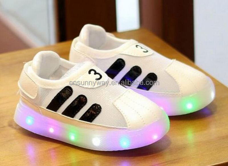 New style kids LED light up board shoes children led sport tennis shoes