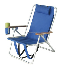 Hot Selling 3 Positions Reclining Aluminium Folding Beach Chair