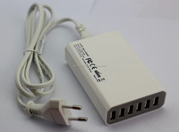 New hot selling 6 port white USB travel adapter