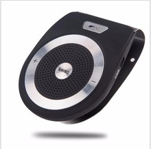 High Quality New Wireless Bluetooth Handsfree Car Kit Speaker Black Sun Visor