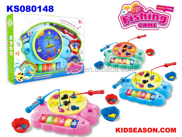 KIDSEASON 2017 NEW TOYS PARENT-CHILD BATTERY OPERATED FISHING GAME TOY