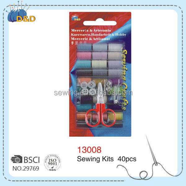 Hot sell delicate multicolor folding sewing box