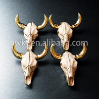New! Longhorn Cattle Resin Bull Cattle Horn pendants, Amazing exclusive gold cattle horn WT-P250