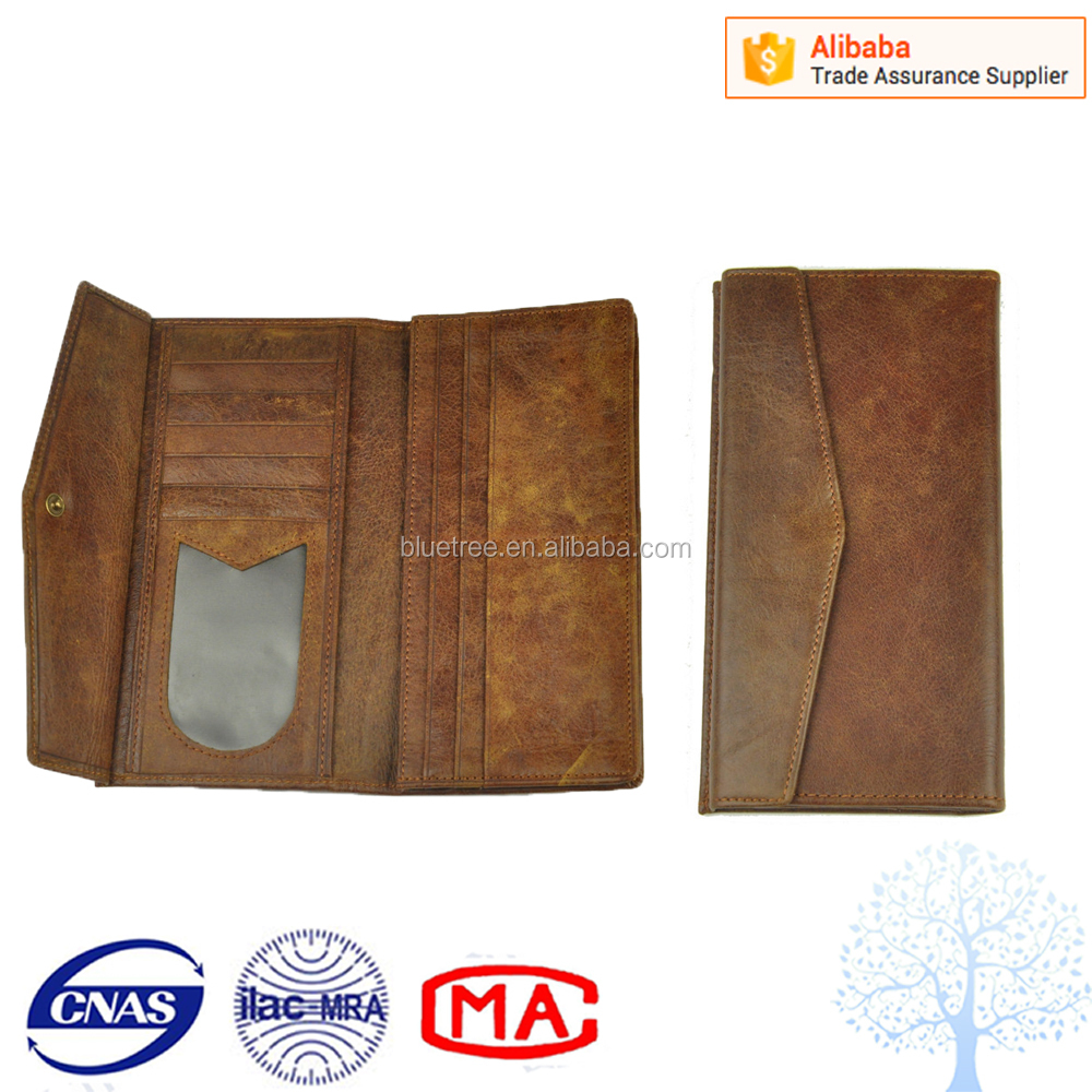 Mens long leather wallet and best leather messenger purse
