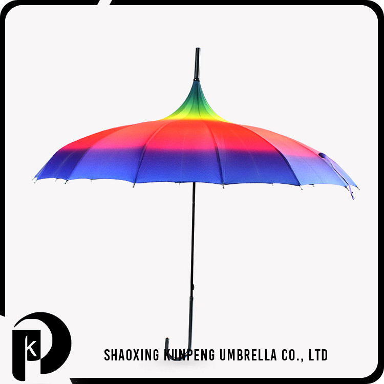 Promotional Wholesale Logo Printed Rainbow Color Umbrella