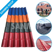 Durable spanish synthetic resin plastic roof tile for villa