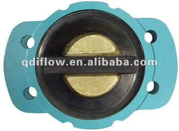 Resilient seat wafer dual plate check valve