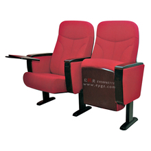 Modern new design VIP cinema hall sofa chair, seat cushions theater folding chairs with cup holder