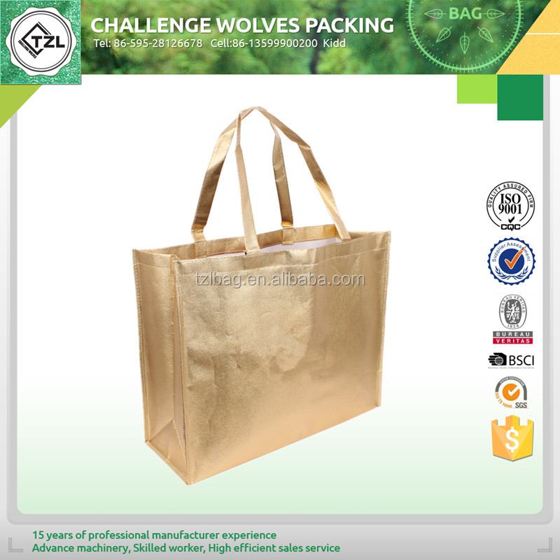 Recycled reusable nonwoven vegetable shopping trolley bag