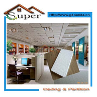 Interior Decoration,Construction Material Mineral Fiber Board Panels Type mineral fiber ceiling panels