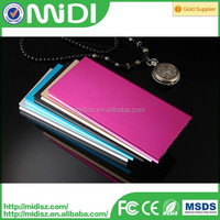 Alloy Metal 12000mAh Portable External Battery Charger Case Power Bank For Iphone and ipad