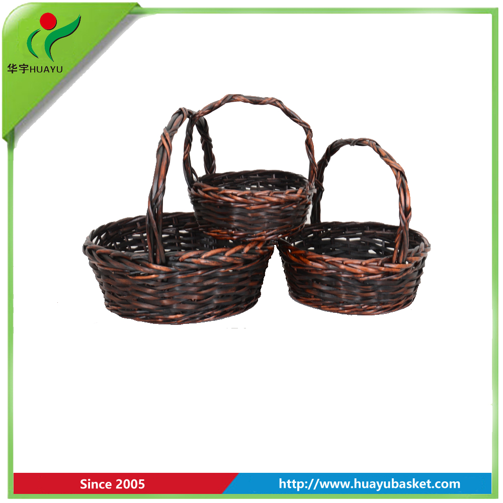 china willow high quality rooster sieve wicker industrial laundry basket
