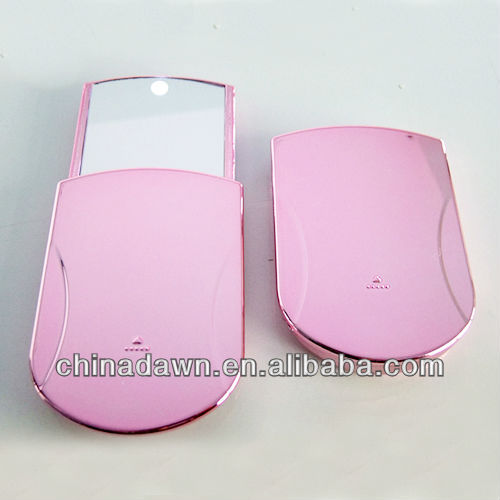 single side pocket mirror with LED light for promotion CD-MLD006