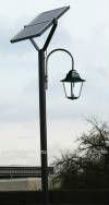 Historical Solar Park Pole Light 4m made in Germany