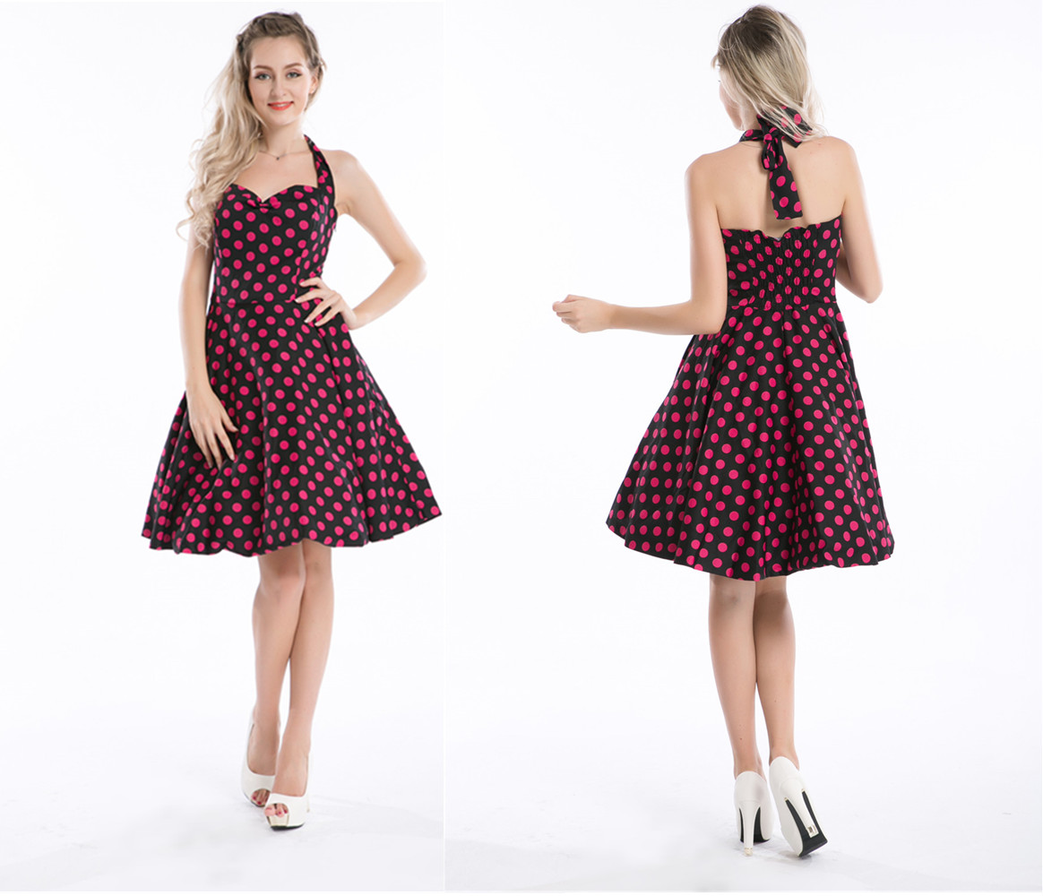 Polka Dots DresS Walson Bestdress Pinup party dress evening traditional dresses 50s rockabilly Sizes 8-24