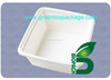 "disposable bento boxes sugarcane bowl 9"" x 9"" Hinged Container"