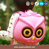 First ranking pink PU owl kids backpack personalized