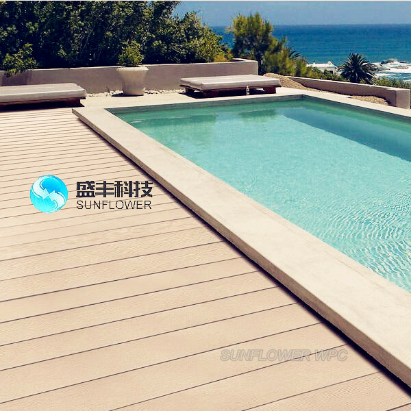 wood plastic composite wpc swimming pool deck tiles