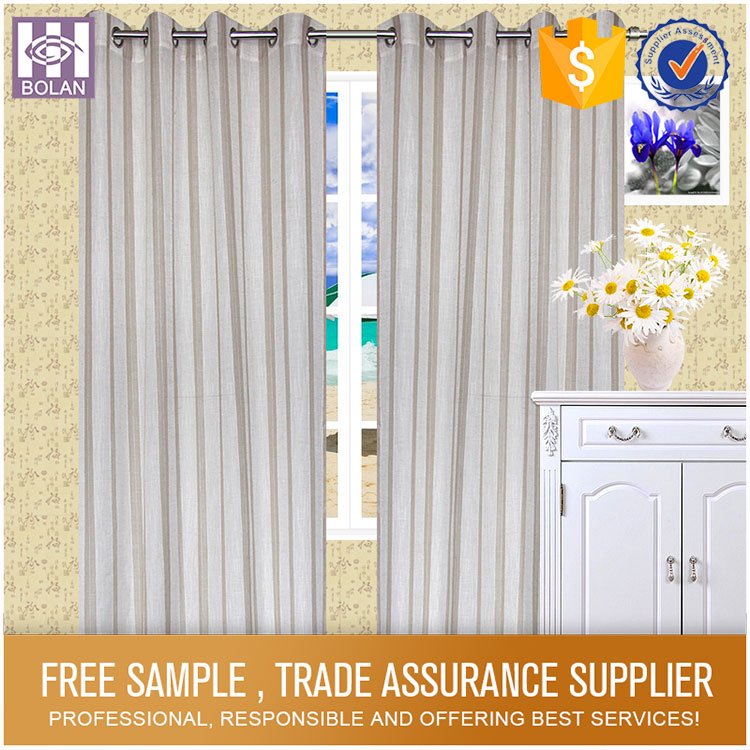 Polyester Jacquard Finished curtain and drape