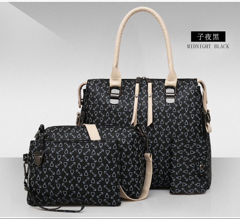 2018 Fashion women 6pcs latest design bag sets ladies handbag <strong>shoulder</strong>