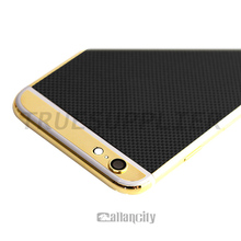 2015 Luxurious Style OEM Customize UAE Gold Plating Housing 24K Gold Back Cover For Iphone 6
