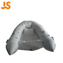CE cheap PVC hull inflactable rib rowing boat 3.3m fiberglass floor fishing kayak boat for sale White JSRR300