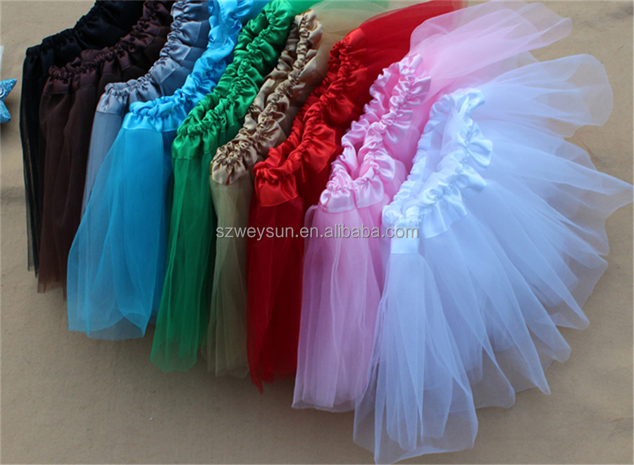 Girls bubble skirt tutu skirts colorful