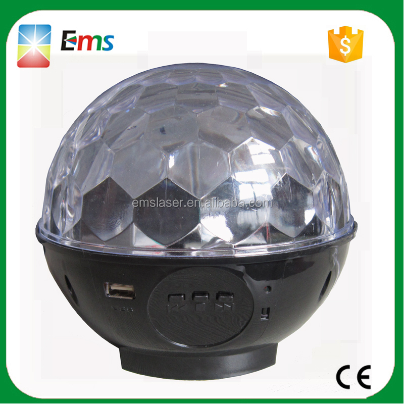 NEW Design led crystal magic ball bluetooth speaker rgbywp disco light with MP3 speaker USB flashing for KTV