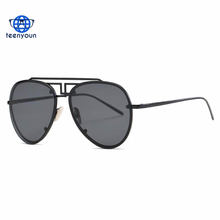 Chinese Style Metal Nose Pads Alloy Frame Aviator Sunglasses Hot Selling Unisex Fancy Direct sales Sun Glasses UV400 Gafas 2017