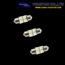 Led festoon dome light 4 SMD 5050 led non canbus 31mm car interior reading led festoon bulb