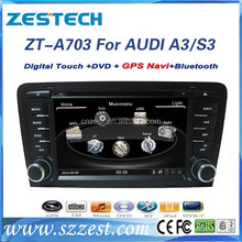 car dvd gps navigation system for audi a3 2003-2012 car dvd radio navigation+support parking sensor DVR TV AUX Camera