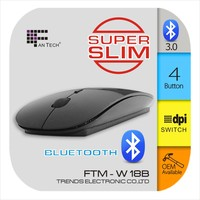 Slim Wireless Mouse Bluetooth Wireless Mouse FTM-W18B