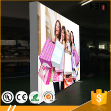 100mm frameless double sided edge-lit LED hanging or free standing indoor light box