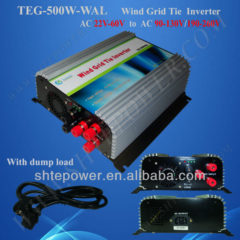 500w 48v Wind Turbine Grid-Connected Inverter with dump load controller
