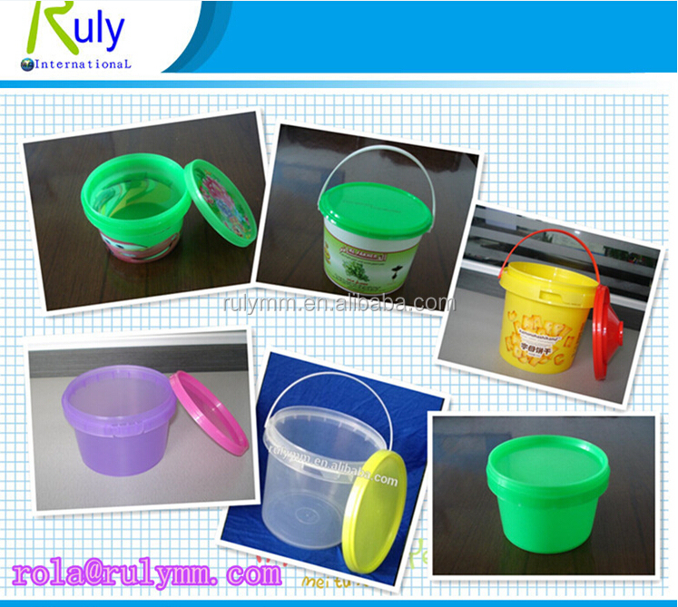 Competitive price 500ml clear small plastic bucket in food grade