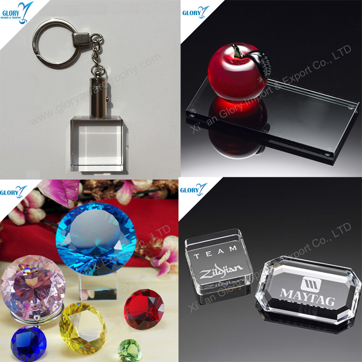 Small Crystal Merchandising Business Promotional Gift Items