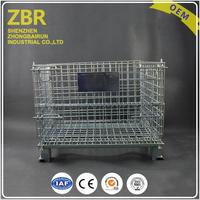 Durable storage metal basket wire mesh container small metal mesh containers