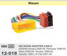 Radio Plug for Nissan Almera Premiera Micra Terrano Vanette X-Trail Wire Wiring Harness Adapter Cable