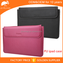 Multicolor sleeve case for ipad or laptop made of PU leather 14SM-3442F