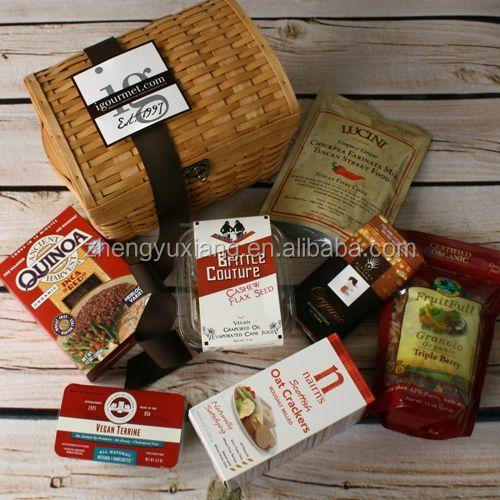 Religious harvest or vegan office party gift gourmet basket