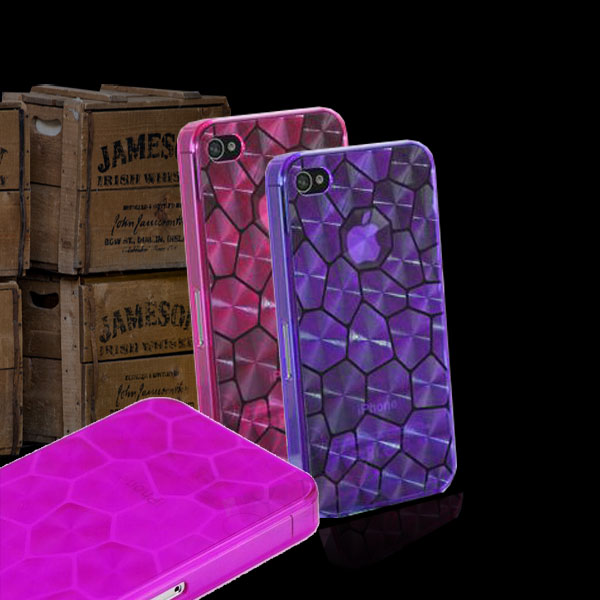 New Hot Water Cube Thin Hard Case Cover Transparent Matte Ultra Slim 0,5 mm for iPhone 5 5G 5S 5C Purple