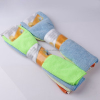 supermarket sell 80% polyester and 20% polyamide stripe microfiber dish towel terry fabric,microfiber cleaning cloth