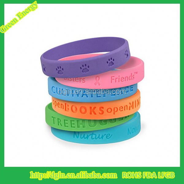 Eco-friendly Customized Baby Silicone Mosquito Repellent Bracelet