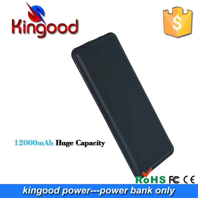 2016 new technology ultra thin power bank 12000mah with unique genuine leather products to sell