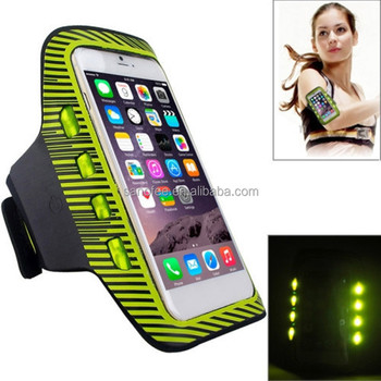 NEW 2016 wholesale rechargeable LED armband case, armband for iphone