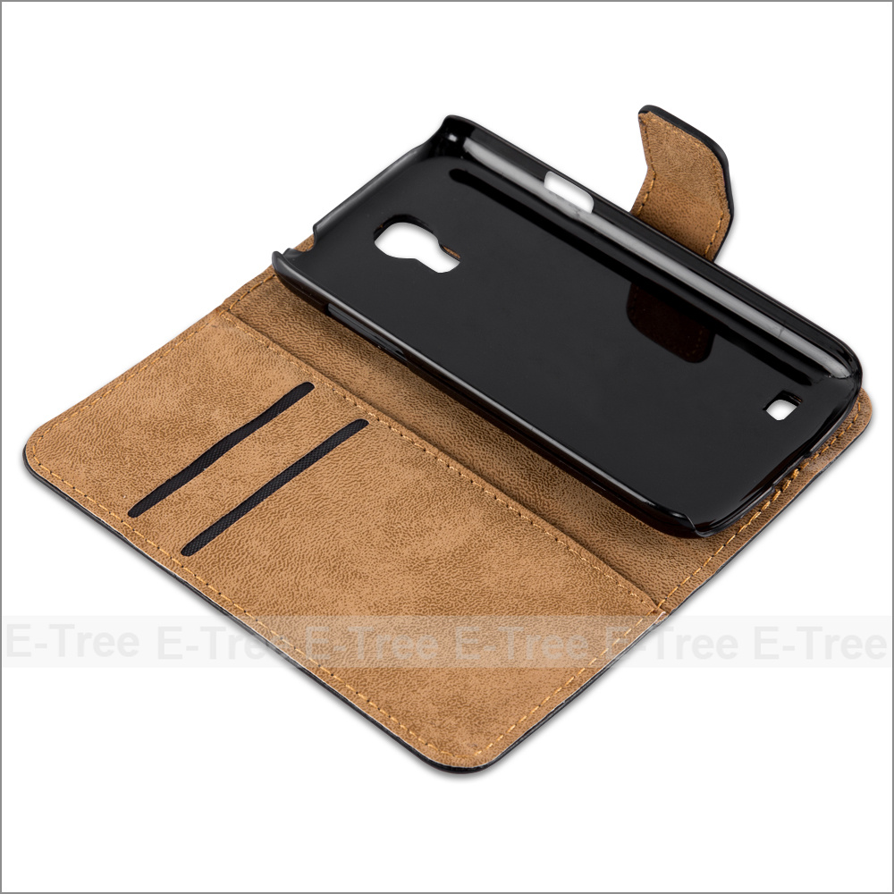 Wallet Function Leather Case for Samsung Galaxy S4 mini, For Samsung S4 mini Bumper Case